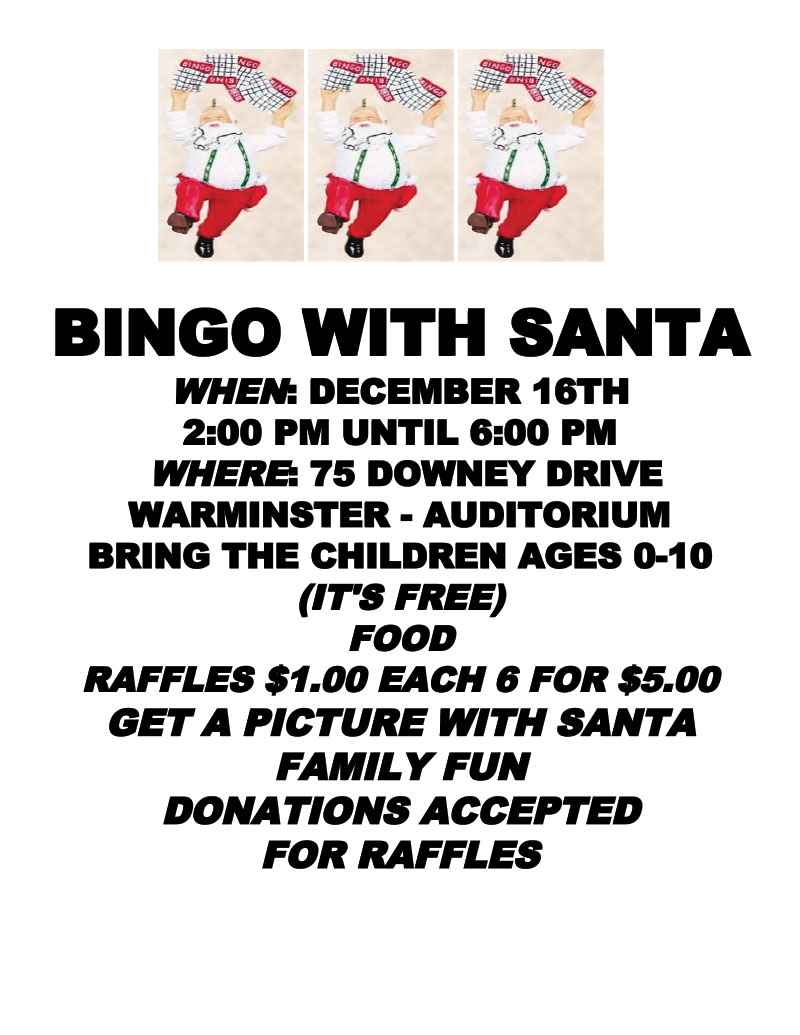 BINGO WITH SANTA at Warminster Heights