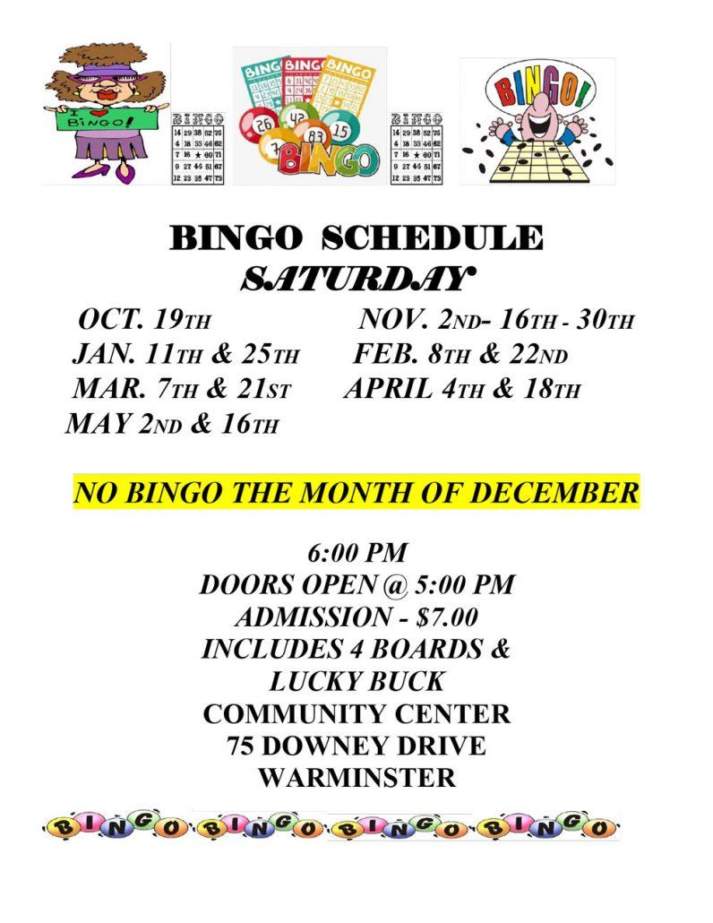 Bingo Flyer 2019