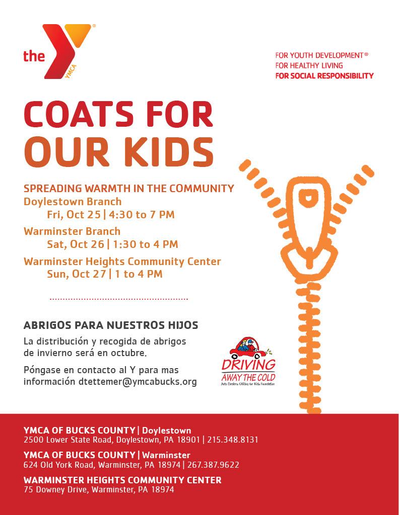 YMCA Coats for Kids
